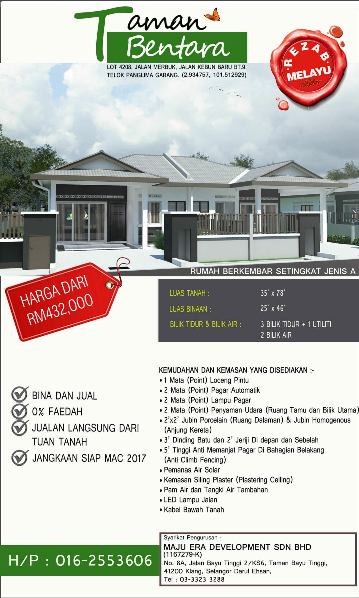 Lot 4208 Taman Bentara, Teluk Panglima Garang 2